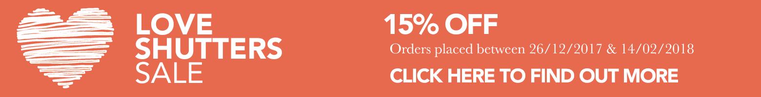 15% Off Shutters!
