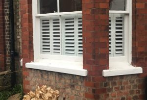 Cafe Style Shutter Installation In Hale
